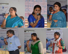 Dr. Debasri Mukherjee, Mrs. Sohini Tarafdar, Mrs. Debaleena Bhattacharya, Mr. Rajarshi Bannerjee, Ms. Nilanjana Mukherjee & Ms Priyanka Dutta interacting with the SOSCV children